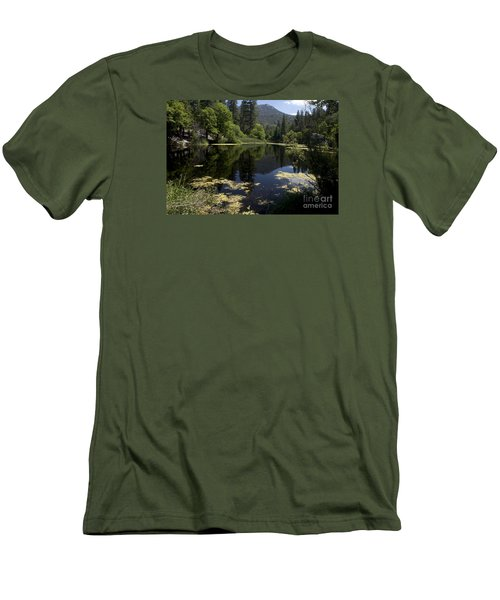 Fulmor Lake Men's T-Shirt (Slim Fit) by Ivete Basso Photography