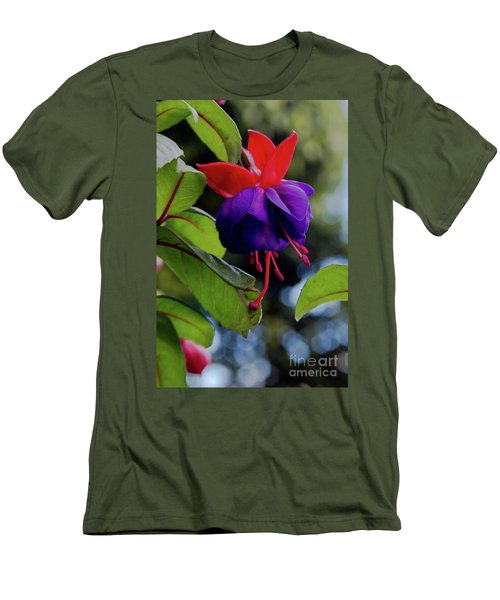Fuschia Men's T-Shirt (Athletic Fit)