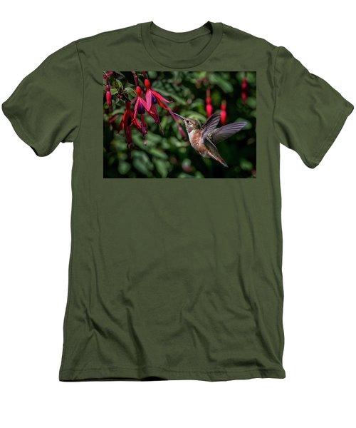 Fuschia Men's T-Shirt (Slim Fit) by Randy Hall