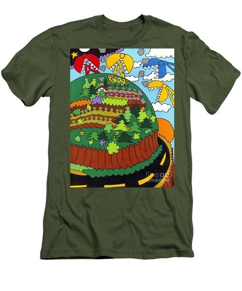 Future Development A Men's T-Shirt (Slim Fit) by Rojax Art