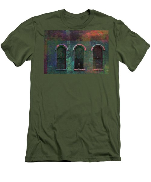 Galesburg Windows 1 Men's T-Shirt (Athletic Fit)