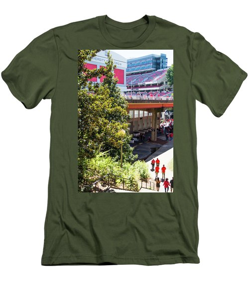 Men's T-Shirt (Slim Fit) featuring the photograph Game Day In Athens by Parker Cunningham