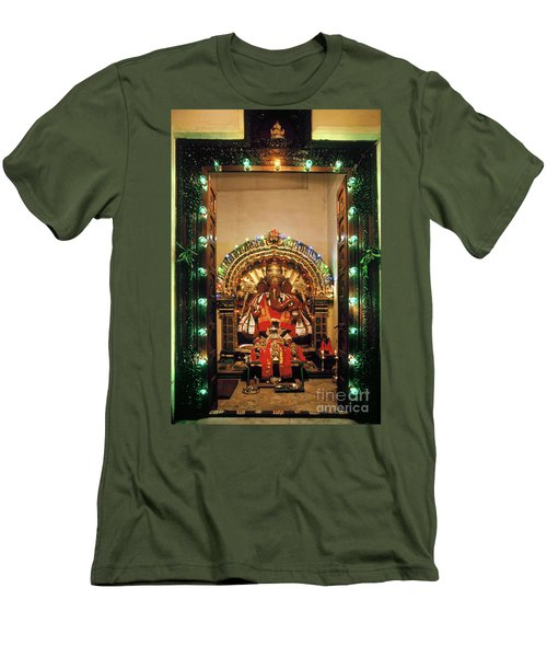 Men's T-Shirt (Athletic Fit) featuring the photograph Ganesh Shrine by Granger