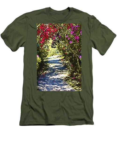 Men's T-Shirt (Slim Fit) featuring the photograph Garden by Donna Bentley
