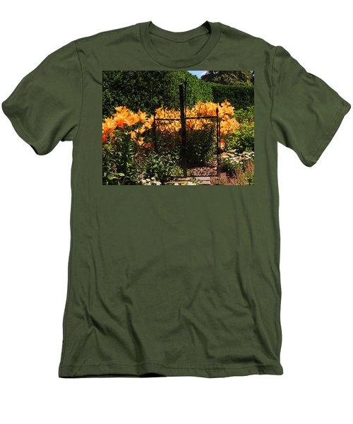 Garden Gate Men's T-Shirt (Slim Fit) by Teresa Schomig