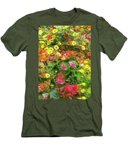 Garden Of Color Men's T-Shirt (Slim Fit) by Josy Cue
