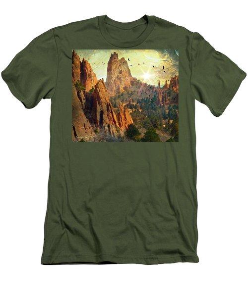 Garden Of The Gods Men's T-Shirt (Athletic Fit)