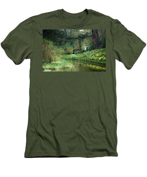 Garden Pond Men's T-Shirt (Slim Fit) by Carol Crisafi