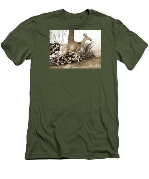 Men's T-Shirt (Slim Fit) featuring the photograph Garden Visitor by Betsy Zimmerli