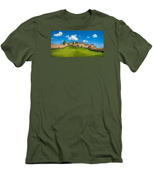 Gardens Of Assisi Men's T-Shirt (Athletic Fit)