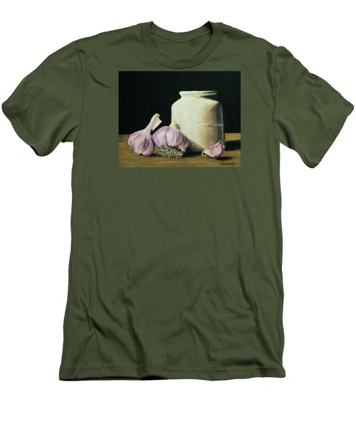 Men's T-Shirt (Slim Fit) featuring the painting Garlic Crock by Marna Edwards Flavell