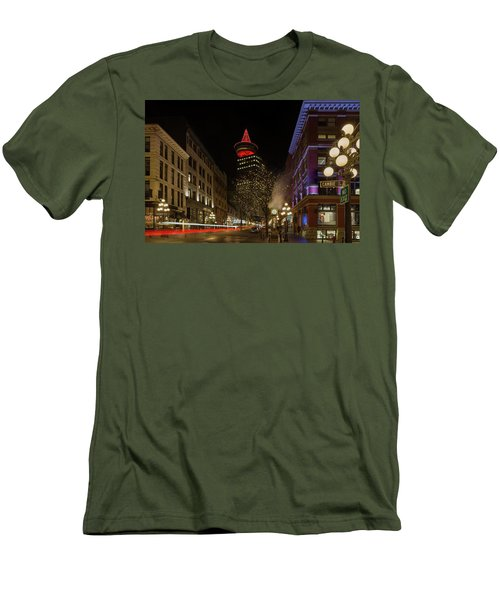 Gastown In Vancouver Bc At Night Men's T-Shirt (Athletic Fit)