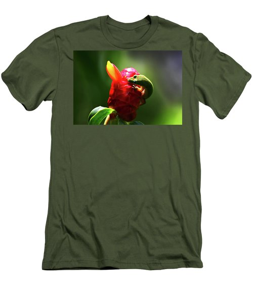Men's T-Shirt (Slim Fit) featuring the photograph Gecko #1 by Anthony Jones