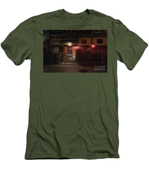 Geisha Tea House, Gion, Kyoto, Japan Men's T-Shirt (Athletic Fit)