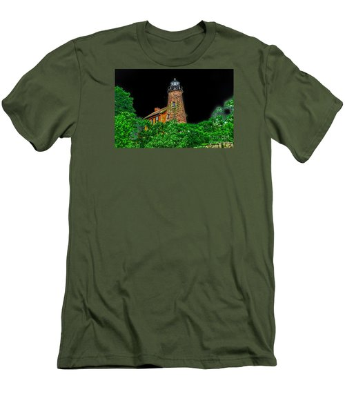 Genesee Lighthouse Men's T-Shirt (Slim Fit) by William Norton