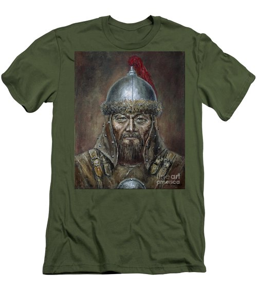 Genhis Khan Men's T-Shirt (Slim Fit) by Arturas Slapsys