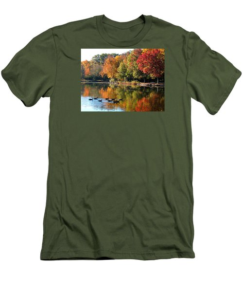Men's T-Shirt (Slim Fit) featuring the photograph Gentle Reflections by Teresa Schomig