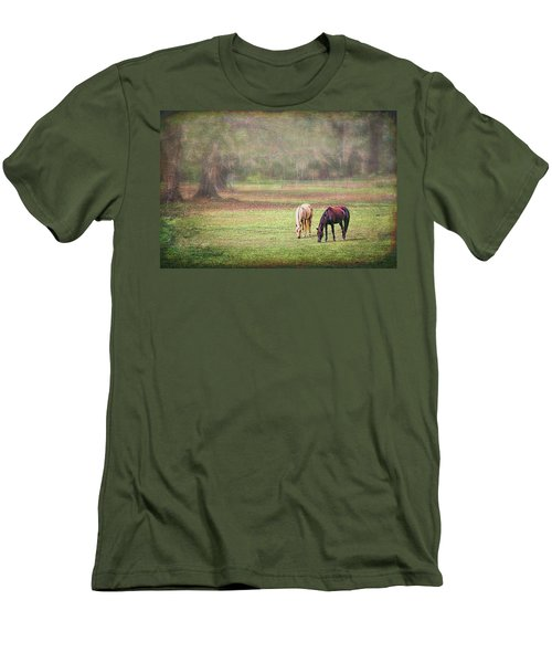 Men's T-Shirt (Athletic Fit) featuring the photograph Gently Grazing by Lewis Mann