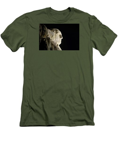 George Washington Profile At Night Men's T-Shirt (Slim Fit) by David Lawson