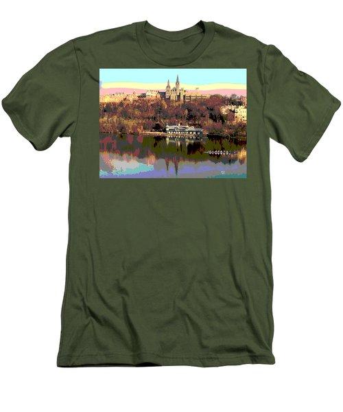 Georgetown University Crew Team Men's T-Shirt (Athletic Fit)