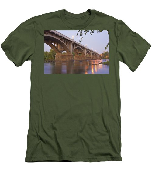 Men's T-Shirt (Slim Fit) featuring the photograph Gervais Bridge by Steven Richardson