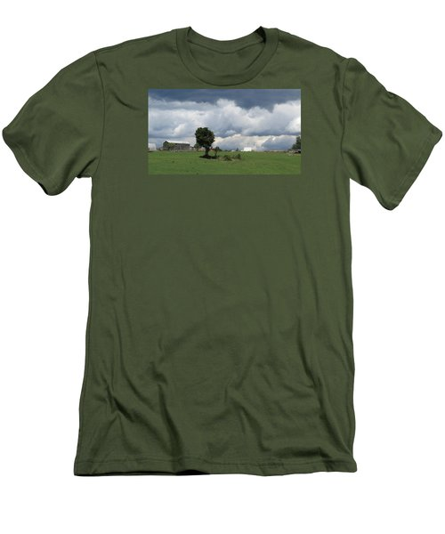 Men's T-Shirt (Slim Fit) featuring the photograph Getting Stormy by Jeanette Oberholtzer