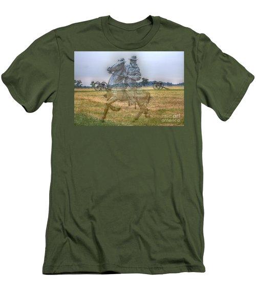 Ghost Of Gettysburg Men's T-Shirt (Slim Fit) by Randy Steele
