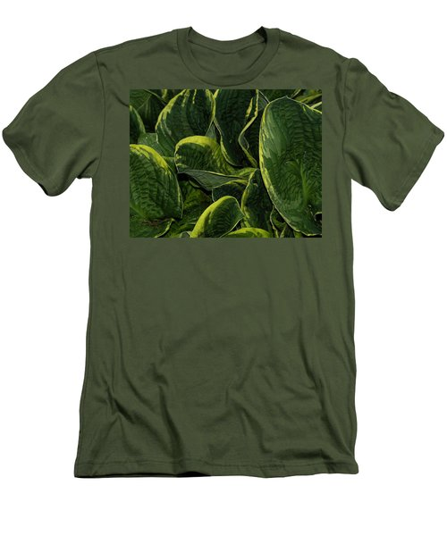 Giant Hosta Closeup Men's T-Shirt (Athletic Fit)