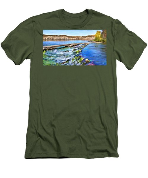 Giant Springs 3 Men's T-Shirt (Slim Fit) by Susan Kinney