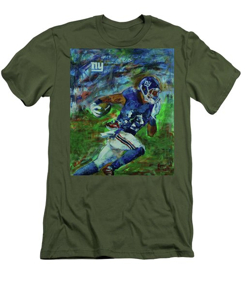 Ny Giants -  Big Blue Men's T-Shirt (Slim Fit) by Walter Fahmy