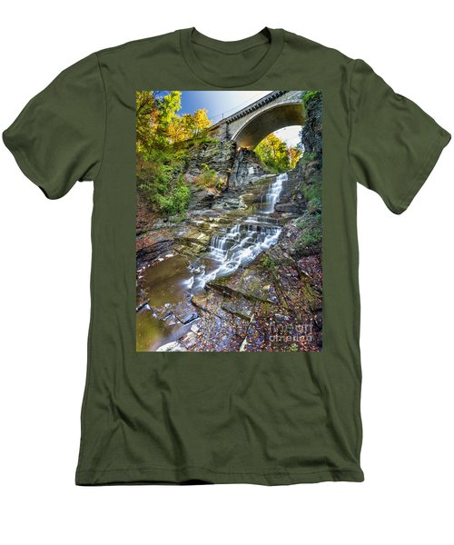 Giant's Staircase Under College Avenue Bridge Men's T-Shirt (Athletic Fit)