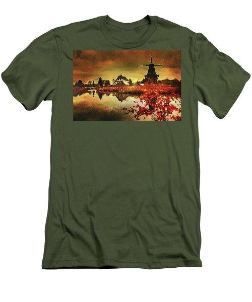 Men's T-Shirt (Athletic Fit) featuring the digital art Gifhorn Millhouse by PixBreak Art