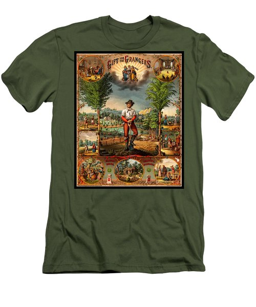Gift For The Grangers 1873 Victoiran National Grange Agriculture Promotional Art Men's T-Shirt (Athletic Fit)