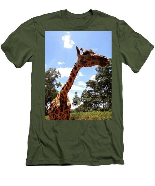 Giraffe Getting Personal 3 Men's T-Shirt (Athletic Fit)