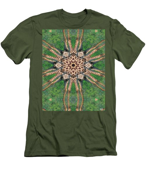 Giraffe Mandala II Men's T-Shirt (Slim Fit) by Maria Watt