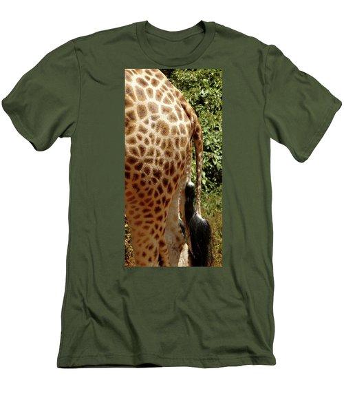 Giraffe Tails Men's T-Shirt (Slim Fit) by Exploramum Exploramum