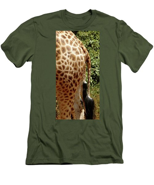 Giraffe Tails Men's T-Shirt (Athletic Fit)