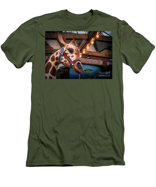 Giraffecarousel Men's T-Shirt (Slim Fit) by Lisa L Silva