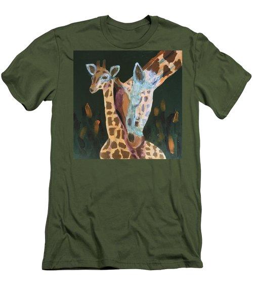 Giraffes Men's T-Shirt (Slim Fit) by Donald J Ryker III