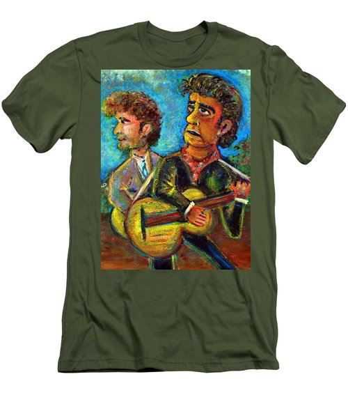 Girl From North Country Johnny Cash And Bob Dylab Men's T-Shirt (Slim Fit) by Jason Gluskin