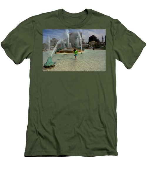 Girl In Fountain Men's T-Shirt (Athletic Fit)