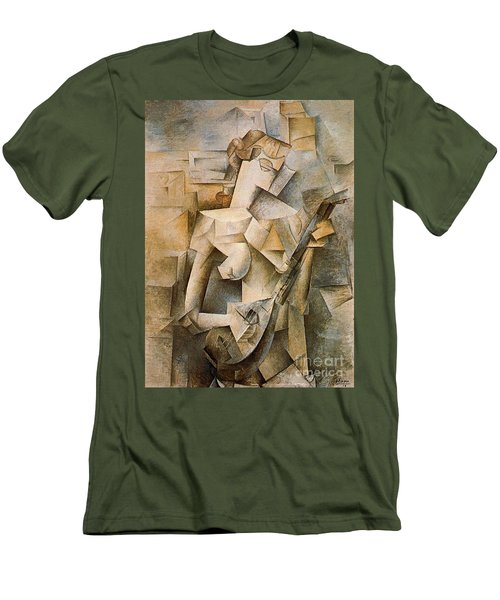 Girl With A Mandolin Men's T-Shirt (Slim Fit) by Picasso