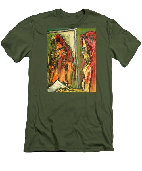 Girl With Eye Glasses--self-analysis Men's T-Shirt (Slim Fit) by Kenneth Agnello