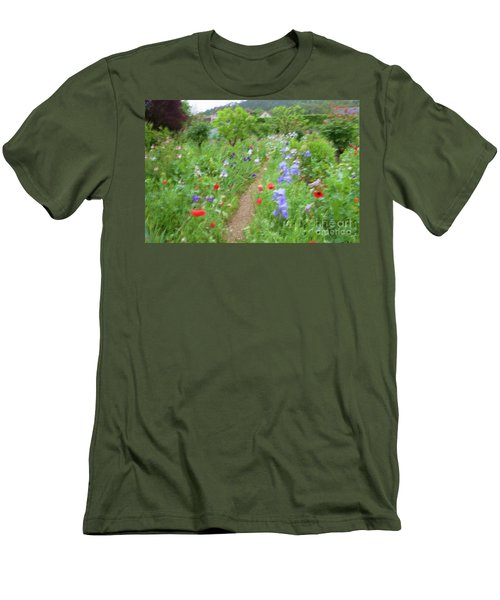 Giverny Monet's Garden Men's T-Shirt (Athletic Fit)