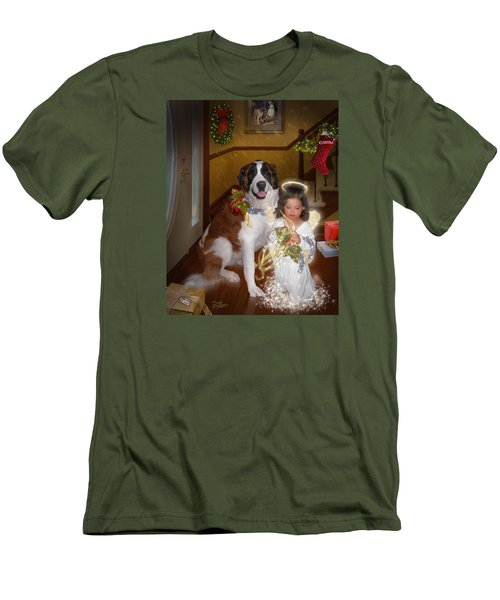 Men's T-Shirt (Slim Fit) featuring the digital art Glad Tidings by Doug Kreuger