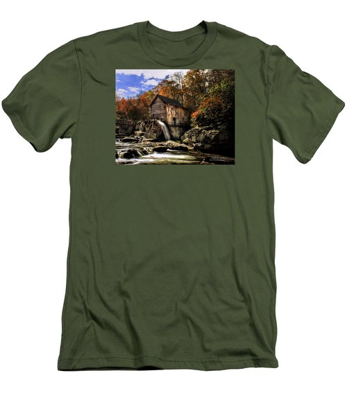Glade Creek Grist Mill Men's T-Shirt (Slim Fit) by Mark Allen