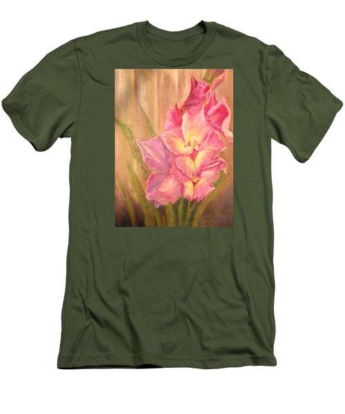 Gladiolas Men's T-Shirt (Slim Fit) by Sherril Porter