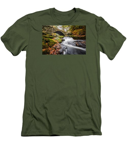 Men's T-Shirt (Slim Fit) featuring the photograph Gleason Falls by Robert Clifford