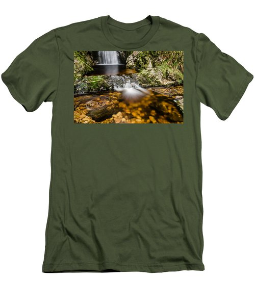 Glenevin Waterfall Clonmany Men's T-Shirt (Slim Fit) by Martina Fagan