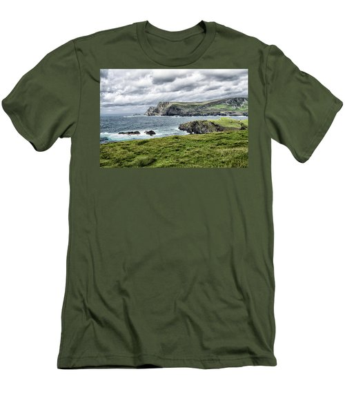 Men's T-Shirt (Slim Fit) featuring the photograph Glencolmcille by Alan Toepfer